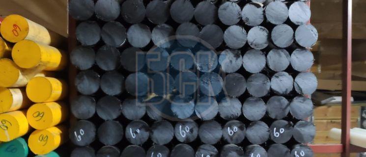 Капролон экструзионный графитонаполненный стержень 130 мм дл.1 м